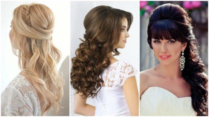 Свадебные прически на длинные волосы с цветами фото