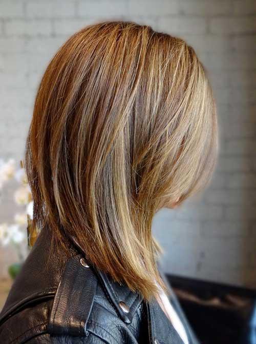 Удлиненный боб без челки на длинные волосы
