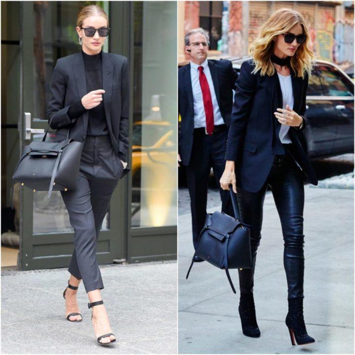 30746527fb40 В деловом образе уместно смотрятся черные сумки средних размеров, а также  разной модели. Они прекрасно сочетаются со строгим стилем одежды.