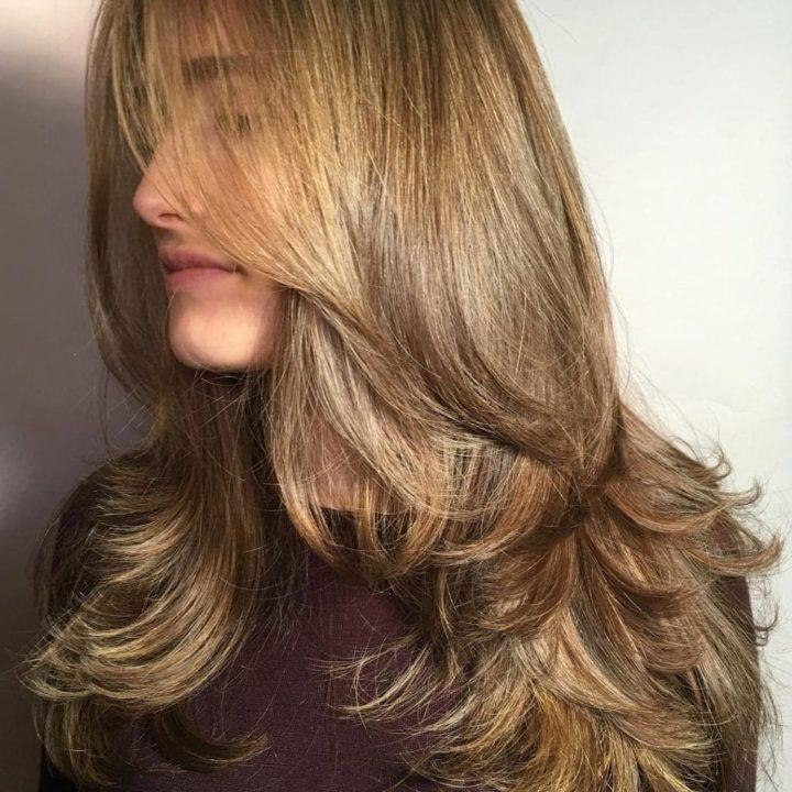 Лесенка на средние волосы (50 фото)