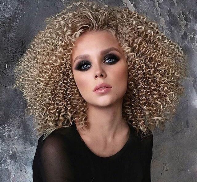 Афро кудри на короткие волосы