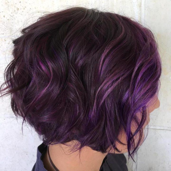 Окрашивание балаяж фиолетовый
