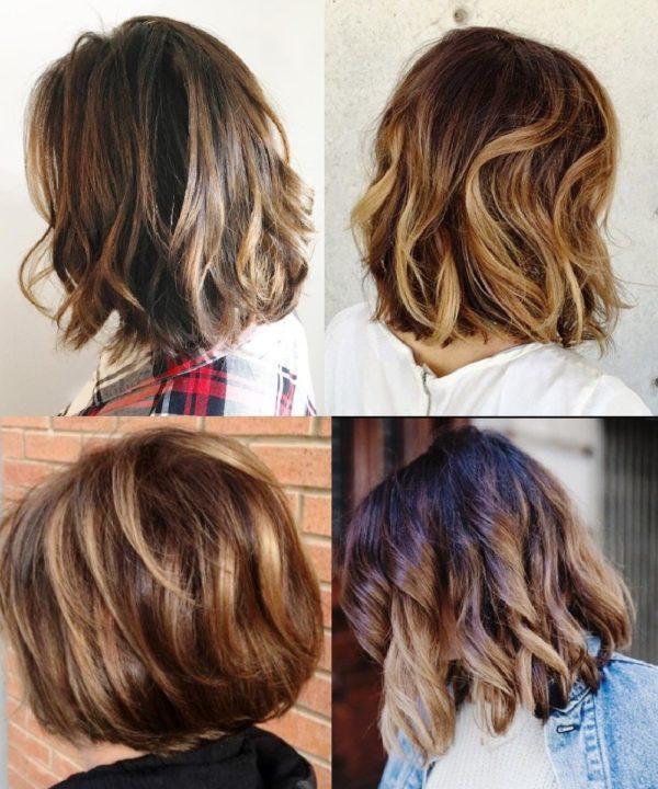 Модное окрашивание на короткие волосы 2019 (52 фото)