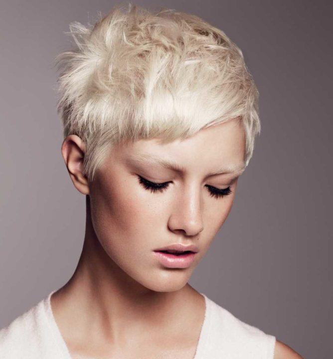 Короткие стрижки цвет волос блонд
