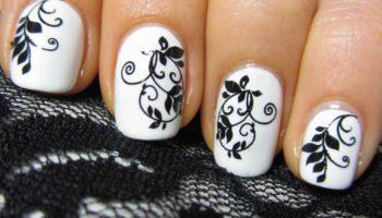 Красивые рисунки на ногтях (50 фото)