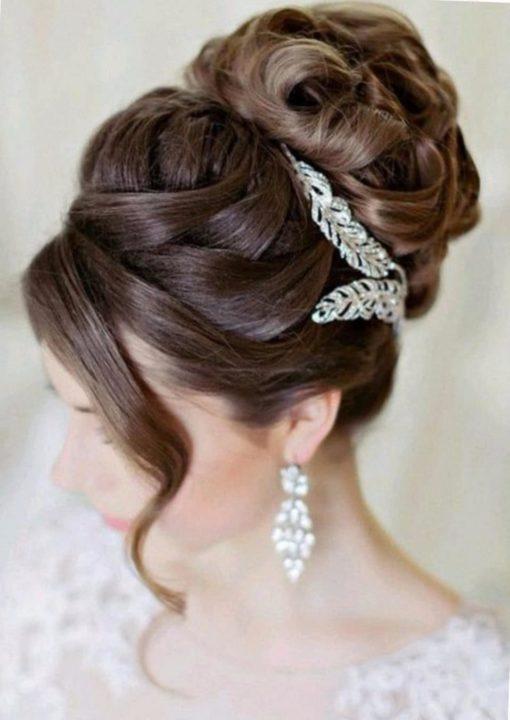 Свадебные прически на тонкие волосы средней длины - модные ... | 1352x958