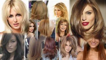 Стрижка каскад на средние волосы (50 фото)