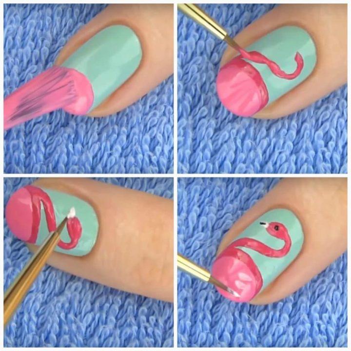 бразильской простые рисунки на ногтях пошаговое фото дне