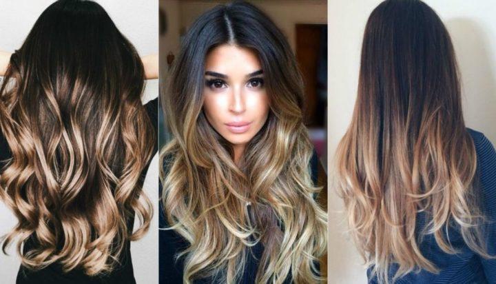 Эффект выгоревших волос на темных и русых волосах (50 фото)