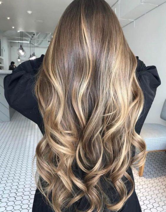 Балаяж на длинные русые волосы фото