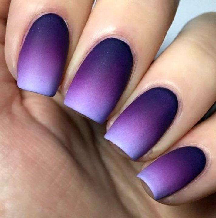 Градиент на ногтях гель-лаком (55 фото)