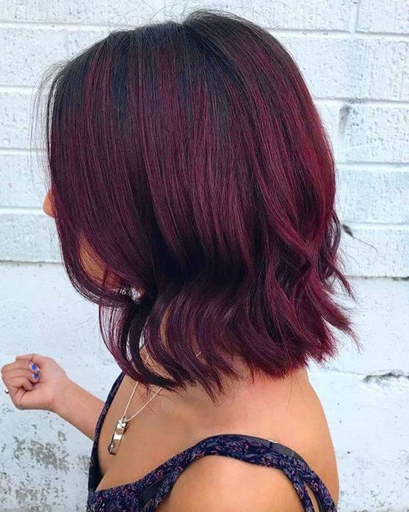 Цвет волос бургундия и его оттенки (49 фото)