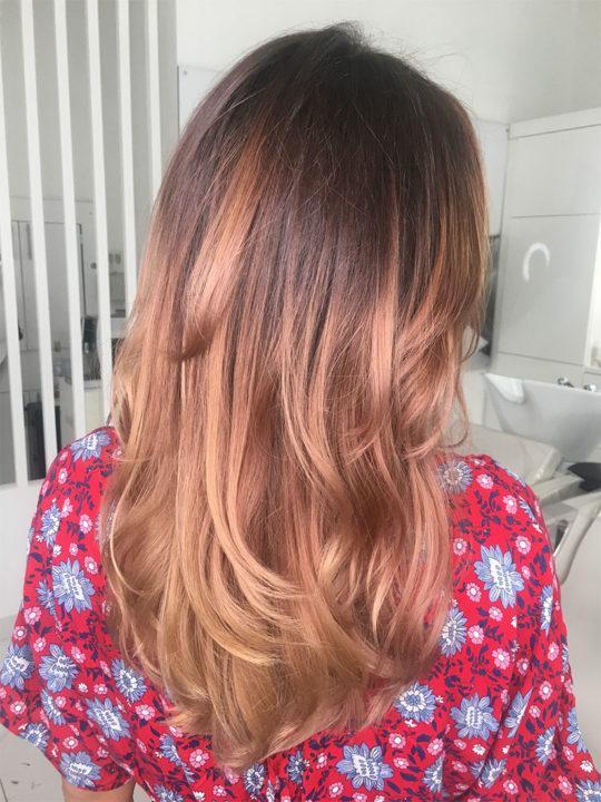 Омбре на длинные волосы пошагово