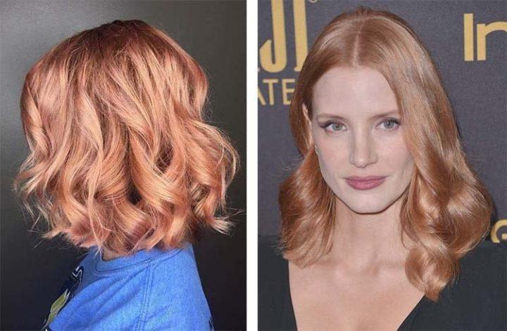 Персиковый блонд: кому подходит, а также особенности цвета (50 фото)