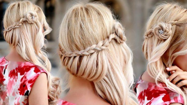 Прически на выпускной на средние волосы (51 фото)