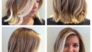 Балаяж на русые волосы средней длины (52 фото)
