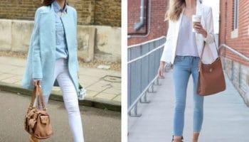 С чем носить светлые джинсы (50 фото)