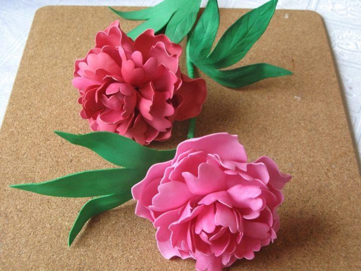 Цветы из фоамирана своими руками: пошаговая фото-инструкция с описанием