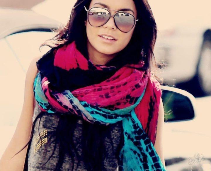 Как красиво повязать шарф — на платье, футболку или куртку (50 фото)