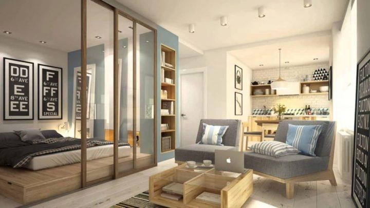 Идеи дизайна интерьера для маленькой квартиры (51 фото)