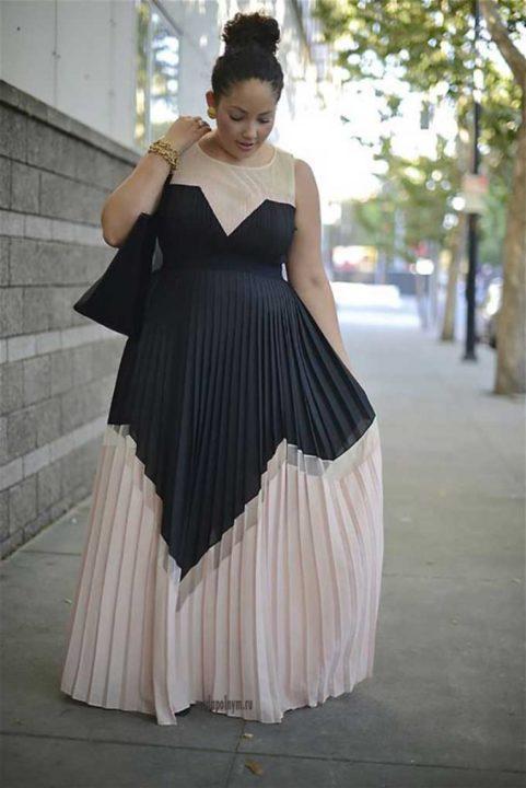 Мода для полных женщин за 50 лет (50 фото)