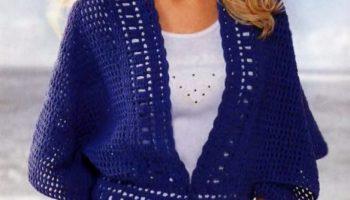 Вязание женской кофты спицами (50 фото)