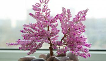 Как сделать дерево из бисера — пошаговая инструкция и схема с фото