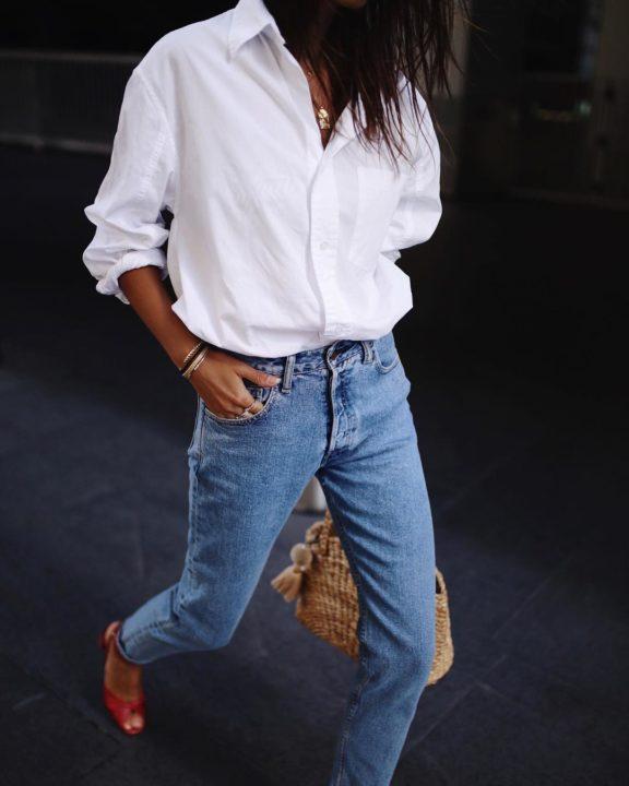 белая рубашка и джинсы картинки печать