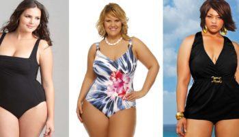 Модные купальники для полных женщин 2020 (50 фото)