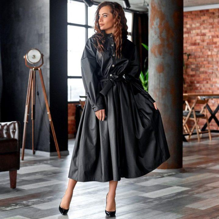 Кожаное платье — ультрамодный стиль