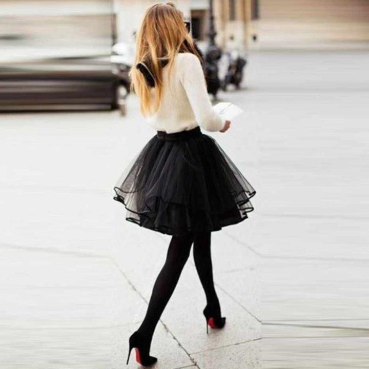 Пышные юбки — создаем индивидуальный и особенный стиль (50 фото)