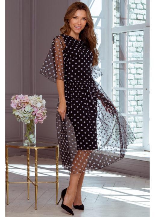 модные платья в горошек фото втором