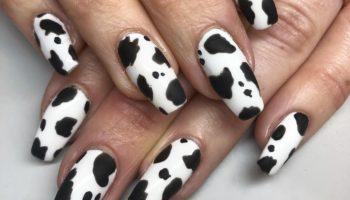 Коровий принт на ногтях (50 фото)