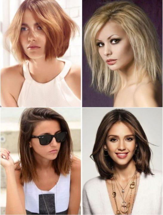 Фото прически 2018 женские на средние волосы
