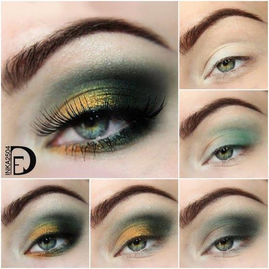 Все тонкости макияжа для голубо -зеленых глаз 30 фото примеров