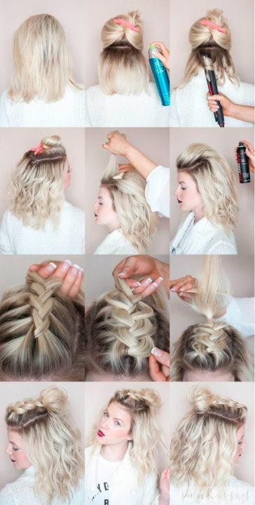 Как самостоятельно сделать причёску на короткие волосы 27