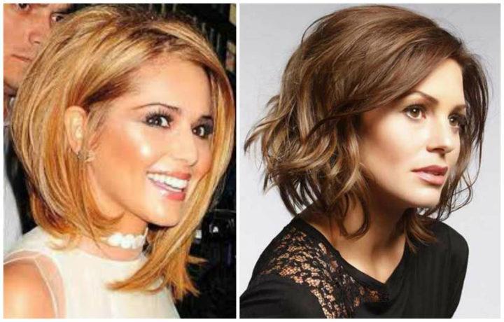стрижки на средние волосы фото женские