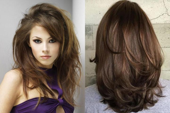 Прически на густые волосы длиные