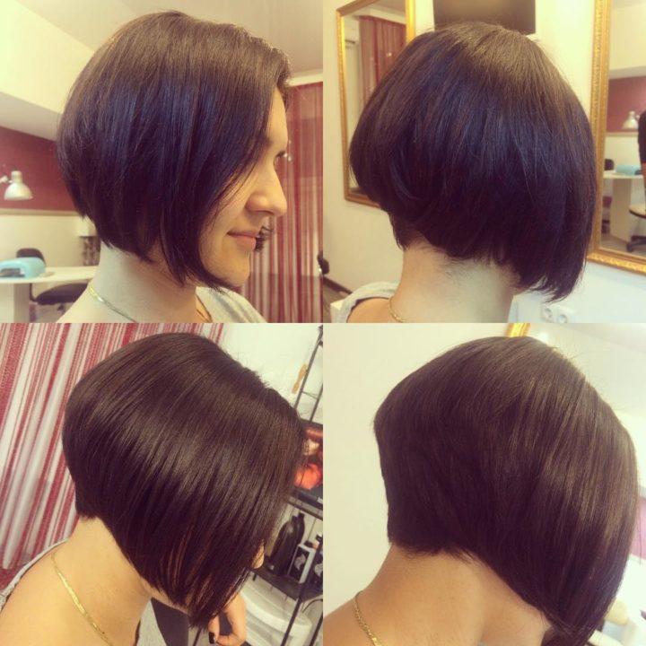Как самой себе подстричь волосы - боб и каре фото стрижек 61