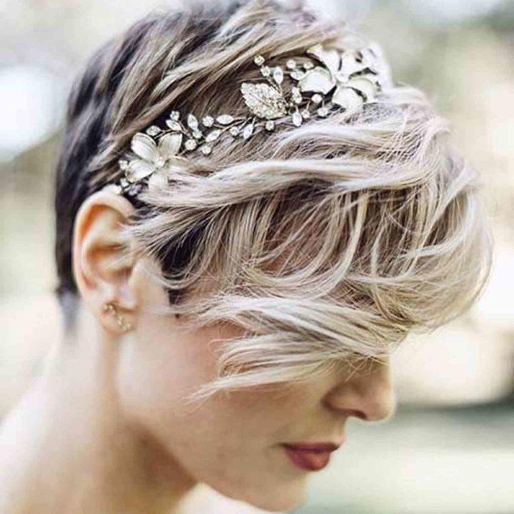 Свадебных причесок на короткие волосы
