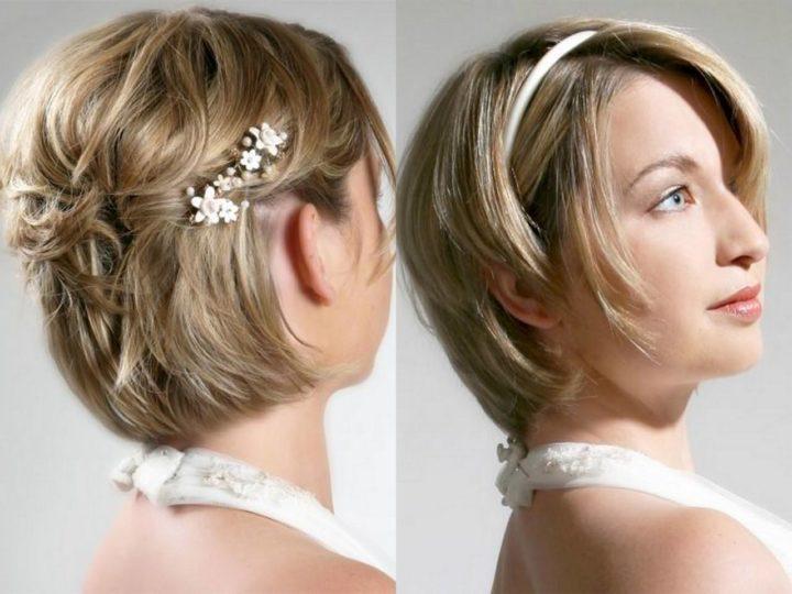 Свадебная прическа на короткие волосы своими руками фото 13