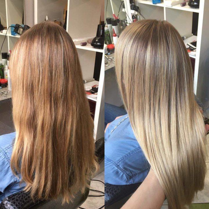 Как сделать эффект выгоревших волос в домашних условиях фото пошагово