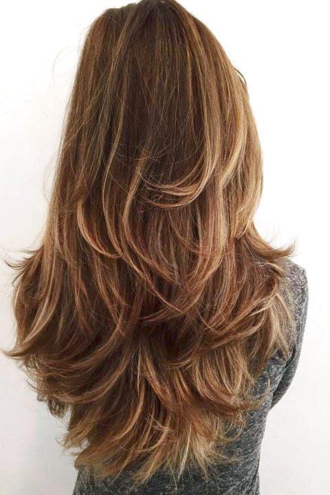 Прически каскад на длинные волосы фото сзади