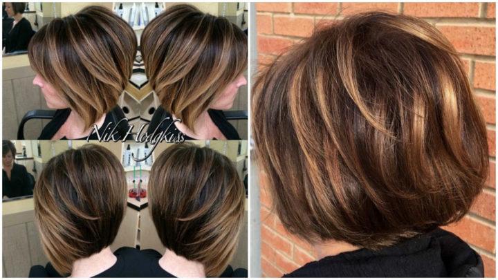 окраска волос фото на каре