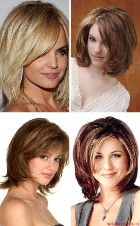 Прически и стрижки каскад фото на средние волосы