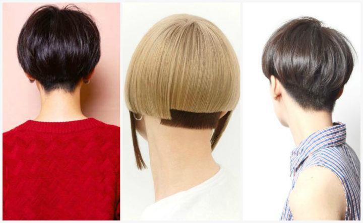 Прическа шапочка женская на короткие волосы фото 2018 вид спереди и сзади
