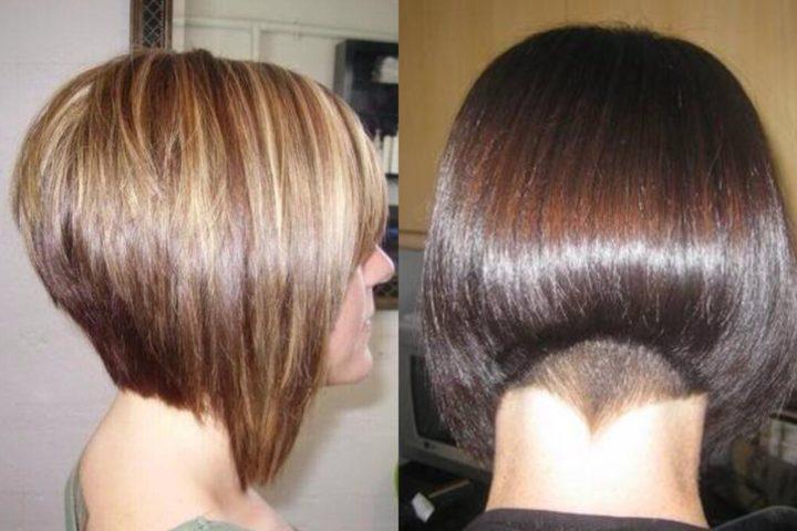 Фото причёски каре с углом