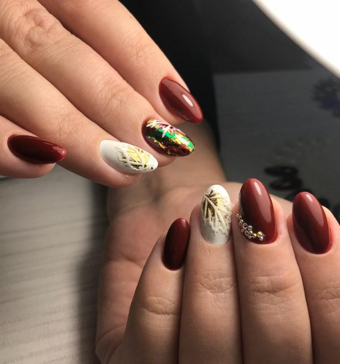 Форма ногтей фото осень