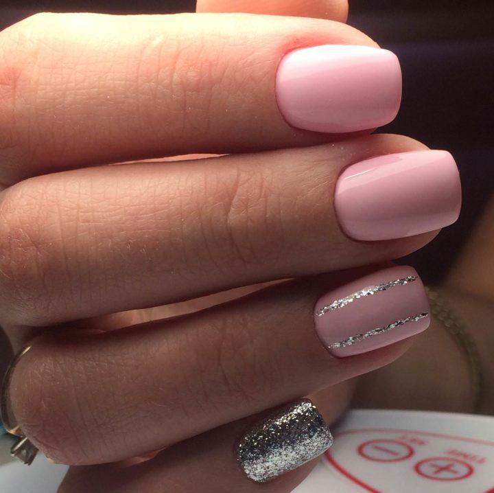 Шеллак Бледно Розовый Дизайн
