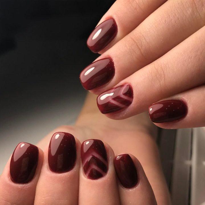Ногти Гель Лак Темные Цвета Фото